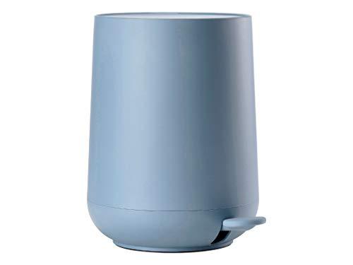 Zone Denmark Nova Mülleimer/Abfalleimer, Kosmetikeimer fürs Bad, 5 Liter, blau