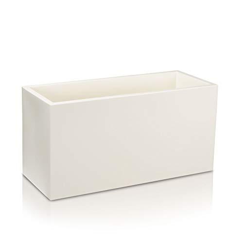 Fioriera VISIO 50 di plastica, vaso da fiori - 100x40x50 cm - colore: bianco
