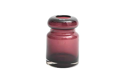 Dutz Collection Vase old rose Glas mundgeblasen oval glasvase 15 cm rosa