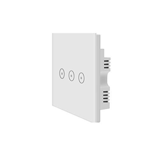 Jinvoo Interruttore smart da parete, funziona con il wi-fi, non necessita di hub, con timer, compatibile da remoto con iOS e Android, funziona con Alexa Echo e Google Assistant, bianco, 110.00V