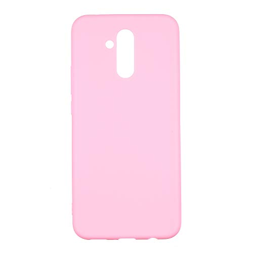 cuzz Funda para Huawei Mate 20 Lite+{Protector de Pantalla de Vidrio Templado} Carcasa Silicona Suave Gel Rasguño y Resistente Teléfono Móvil Cover-Rosa Oscuro