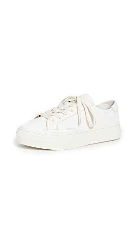 Soludos Women's Ibiza Platform Sneakers, White, 8 Medium US
