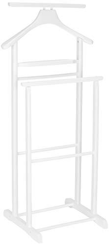 Haku Möbel 30269 - Perchas de madera maciza en blanco, altura 102 cm