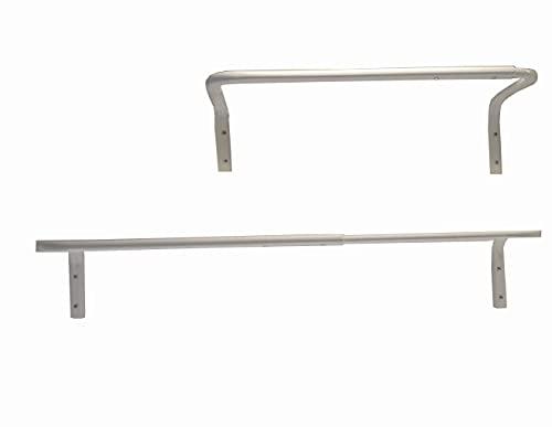 Ikea IKE-301.794.35 MULIG-Perchero de acero, 60-90 cm, color blanco
