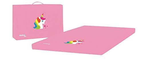 Matelas 3 parties pour lit parapluie Baby Fox collection 'Licorne' - Rose