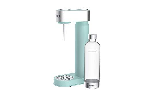 Philips GoZero - Máquina de agua con gas, Sifón de cocina, Dispensador de Soda, Soda maker, Máquinas para hacer soda, Bebidas carbonatadas, Botella de agua sin BPA, 1 Litro, Menta