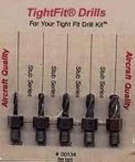 Drill Bits Short Length Threaded Shank, Stub Series Drill Bit Set 4 Tight Fit Tools 00134