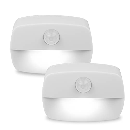 [2 unidades] Pasillo luz de noche ,luz nocturna LED con sensor de movimiento para dormitorio, Luces que Funcionan con Pilas, Adecuada para Dormitorio ,Baño ,Inodoro ,Escaleras ,Cocina ,Pasillo