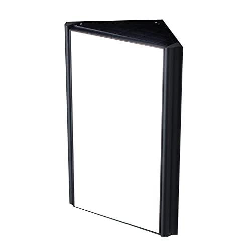 Mobili da Bagno Mobile da Bagno Triangolare Piccolo Appartamento Mobiletto a Specchio per Il Bagno Armadio a Specchio ad Angolo Lega di Alluminio Specchio Argento HD