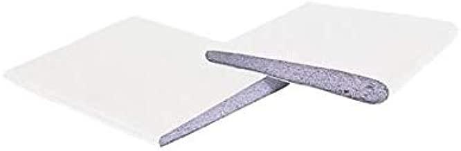 KS Hardware Door Corner Seals, White, Pack of 2