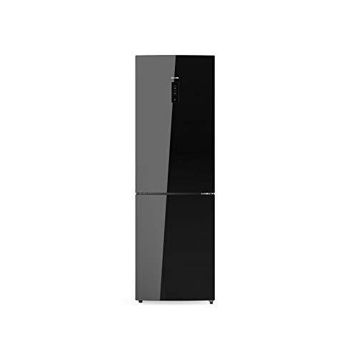 UNIVERSALBLUE | Frigorífico Combi 185 cm Cristal Negro | Eficiencia energética A++ | Sistema No Frost | con congelador | Sistema silencioso | Capacidad Total 320L