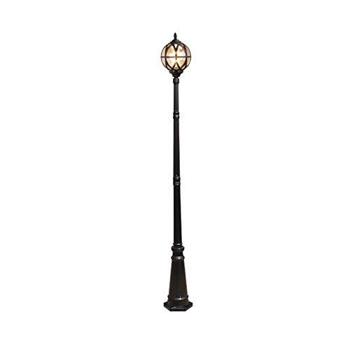 Impermeable al aire libre Lámpara de estilo europeo, lámpara de calle de alto polo retro al aire libre, lámpara de césped impermeable, lámpara de cabeza de columna de iluminación de carretera, lámpara