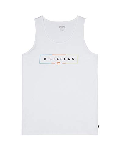 BILLABONG Unity Tank Camiseta sin Mangas, Hombre, Blanco (White), M