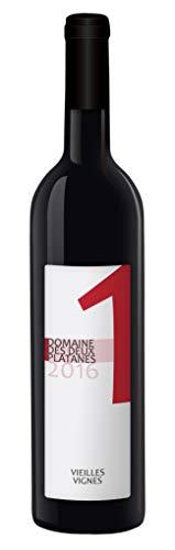 Domaine des Deux Platanes Wein - 1 2016 - Weinflasche 1 x 0,75 l - Weinqualität aus Frankreich - Rotwein - Gekeltert aus Carignan, Mourvèdre, Grenache und Syrah - Bio