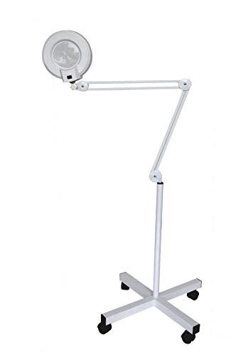 Laron S3301 - Lámpara de Mesa de Manicura (Lupa con soporte laminado para uso móvil, 8 aumentos diferentes)