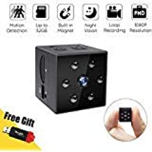 Hidden Spy Camera, CIGPLANET Mini Spy Camera HD 1080P Built-in Magnet & Wearable Nanny Cam with Night Vision and Motion Detection for Office and Home Surveillance