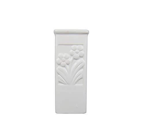 B&F Humificador para Radiador Cerámico con Diseño De Colores con Colgante En Aluminio/Evaporador De Agua para Radiador/Color Blanco 18cm x 8cm (Flores) (Flor 1)