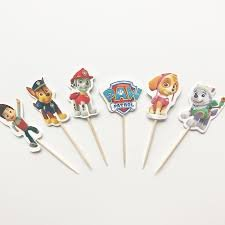 PAW PATROL PARTY CUPCAKE TOPPERS BIRTHDAY PARTY SUPPLIES SET OF 24
