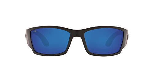 Costa Del Mar Corbina Sunglass, Blackout/Blue Mirror 580Glass