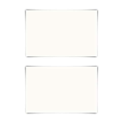 50 Blanko Visitenkarten 85x55mm Naturpapier 300g/qm Set Papier wählbar
