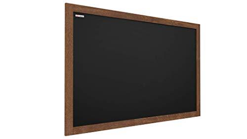 ALLboards Kreidetafel mit lackiertem Holzrahmen 90x60cm, Schwarz, Schreibtafel, Kreide