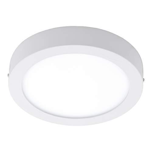 EGLO Plafonnier extérieur LED Argolis, 1 ampoule pour mur et plafond, plafonnier en aluminium et plastique, couleur : blanc, IP44
