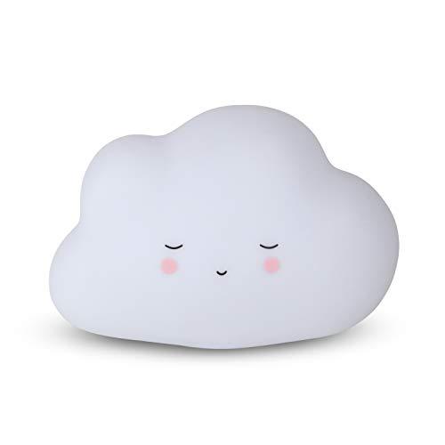 Teeny & Tiny Nachtlicht für Kinder aus weichem Silikon, Touch-Angriff, LED, Wolke - 200 g
