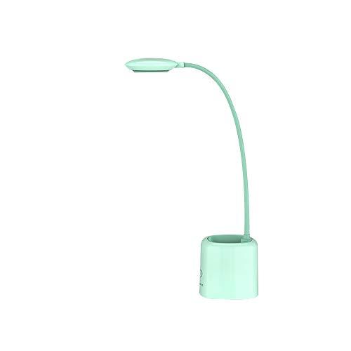 pedkit E3 Lâmpada de mesa LED recarregável e cuidadosa com 3 níveis de controle de brilho e toque em 360 ° Suporte de mangueira flexível verde para telefone
