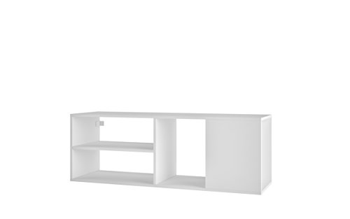 Manhattan Comfort Minetta Mid-Century Modern Floating Tv Stand, White