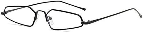 YunYun Gafas de Sol, Gafas de Montura pequeña Gafas de Sol con Personalidad Gafas de Sol de Montura pequeña, Montura Negra Luz Plana C5