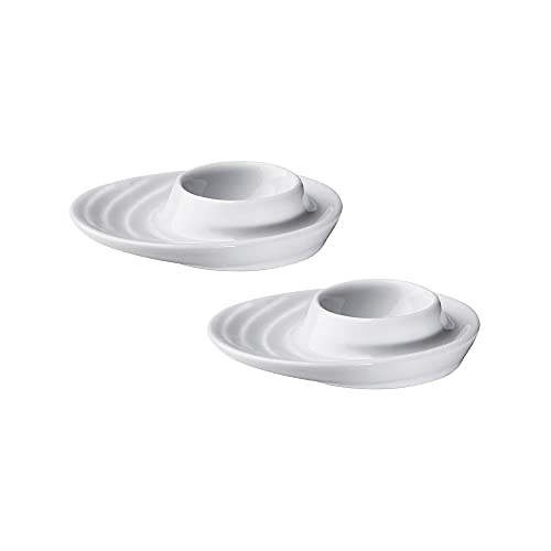 Küchenprofi 2-Piece Set of 2 Cups with Oval Base, White Porcelain Holders for Hard or Soft Boiled...