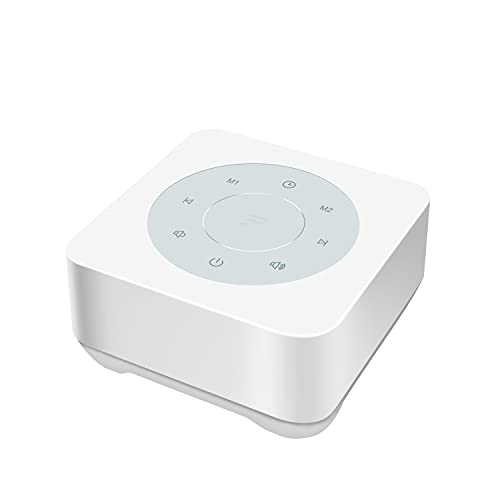 Fitniv White Noise Machine with Touch Button, 20 Natural Soothing Sounds & 32 Levels of Volume Control, Timer & Memory Feature, Plug in, Sound Machine for Baby Adults, Home & Office