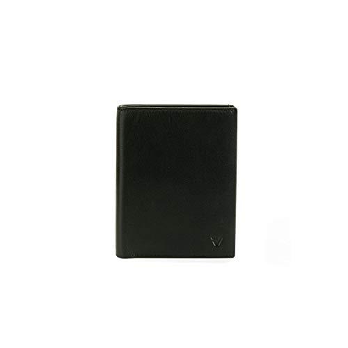 Roncato Pascal porta carte di credito, nero in Vera Pelle, misura: 7.5 x 9.5 x 1