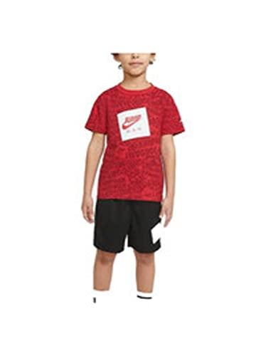 Nike Juego de ropa infantil rojo-negro 85A358-023 23, rojo, 6-7 años