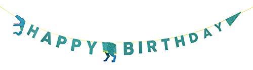 Talking Tables DINO-Garland Party dinosaurus Alles goed voor verjaardag slinger 3.5M, paper, meerkleurig
