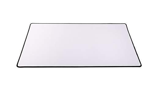 Arkero-G® Premium Spielmatte Weiss mit schwarz-genähtem Rand - (Stitched Edging) 60x36cm - selbst gestalten (Custom Playmat) - Schreibtischunterlage