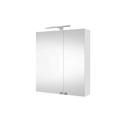 Planetmeubel spiegelkast badkamer met LED-verlichting 60 cm wit