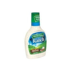 Hidden Valley Ranch, Ranch with Bacon Dressing, 24oz Squeeze Bottle (Pack of 3)