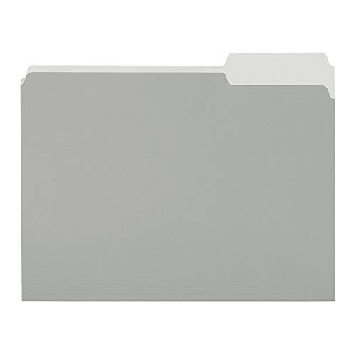 Amazon Basics File Folders, Letter Size, 1/3 Cut Tab, Gray, 36-Pack