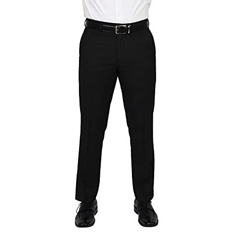 Dockers Men's Stretch Suit Separate (Blazer, Vest), black pant, 42W X 30L