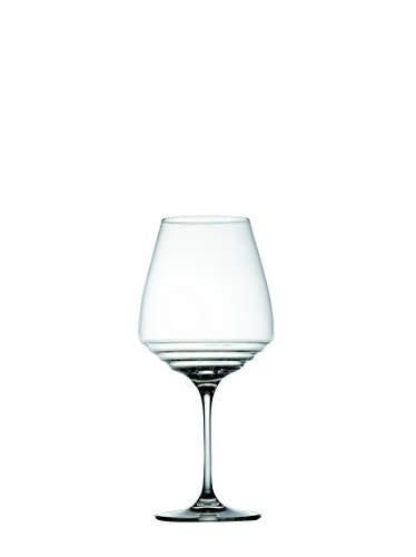 Zafferano Esperienze - Weinglas für reife & hochwertige Rotweine, Weinverkostungs-Set, Hergestellt aus Kristallglas, cl 80 h 242mm d 112mm - Set 6 Stück