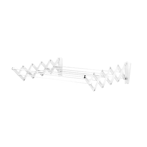 Polder Wall-Mount 24-Inch Accordion Clothes Dryer White