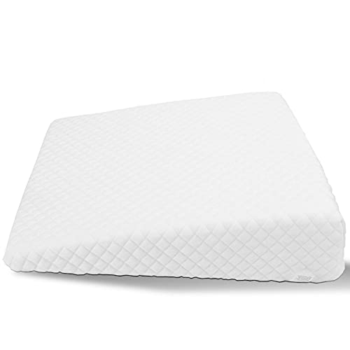 Baby Pillow, Foldable Baby Head Shaping Pillow, for Baby Better Night's Sleep Newborn Over or Under The Mattress(Spit Milk Pillow Square Type, White, 12)