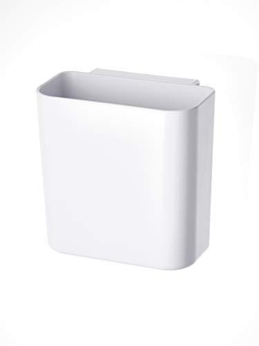 RIDDER Eco Universal-Ablagekorb mit Saugnapf, ABS (Acrylnitril-Butadien-Styrol), weiß, ca. 120x120x75 mm