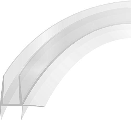 Duschdichtung gebogen für Runddusche Doppelstreifdichtung Schwallschutz Profil 100cm für eine Glasstärke von 4-6mm