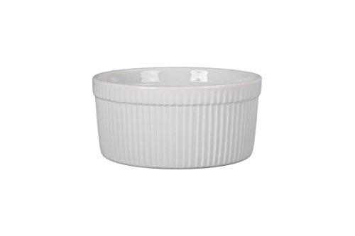 BIA Cordon Bleu Classic Bakeware Souffle Dish, 7.75' diameter x 3.5' high, White