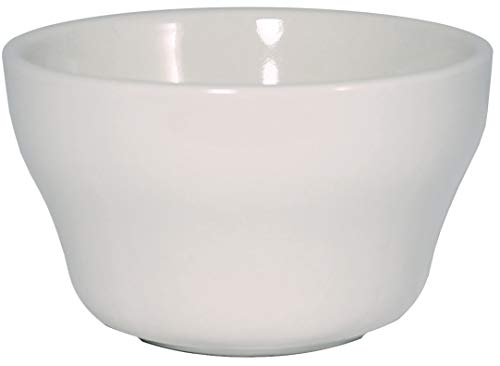 ITI Ceramic Stackable Bouillon Cups with Pan Scraper, 7 Ounce, 6-Pack (Bone White)