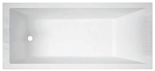 Vasca Bagno Novellini Calos 2.0 Standard da incasso misura 170x70 H58cm Capienza 170 Litri Arredo Vaschetta Rettangolare Squadrata Guscio Tradizionale Acrilico Finitura Bianco Lucido Casa Reversibile