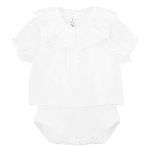 CALAMARO - Body Camisa PLUMETILLA bebé-niños Color: Blanco Talla: 18M