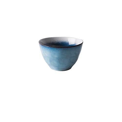 MLMHLMR Tazón de cerámica Japonés Restaurante del hogar Bandeja de Pasta Plato de Ensalada Plato de Postre Redondo Vajilla Utensilios de Comida 11.5x7 / 15x9.4cm Cuenco (Size : S)